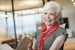 Portrait of smiling mature businesswoman